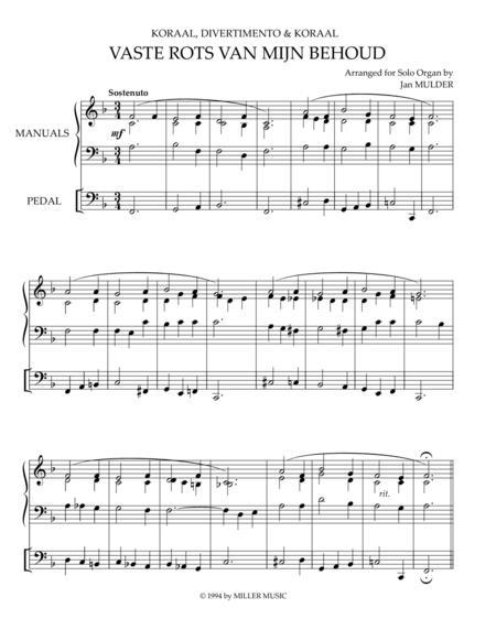 Vaste Rots Van Mijn Behoud - Orgel