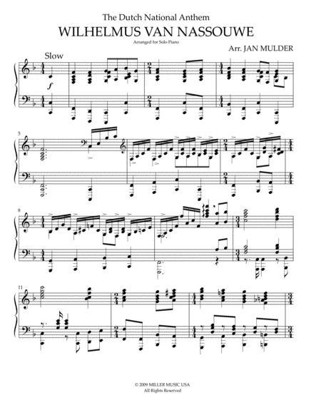 Wilhelmus Van Nassouwe - Piano