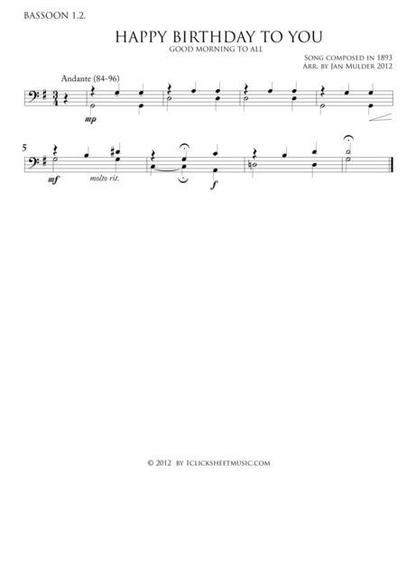 Happy Birthday - Bassoon 1.2
