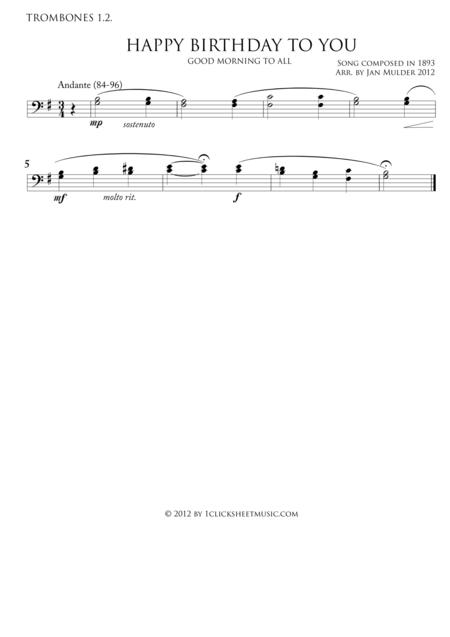 Happy Birthday - Trombones 1.2