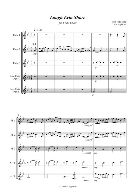 Lough Erin Shore - For Flute Choir