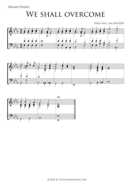 We Shall Overcome - Piano / Organ