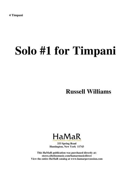 Solo No. 1 for Timpani