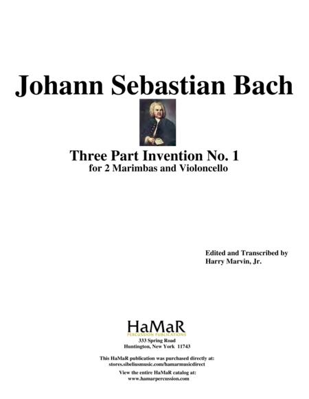 Three Part Invention No. 1 for 2 Marimbas & Cello