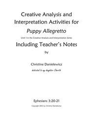 Creative Analysis and Interpretation Activities for Puppy Allegretto