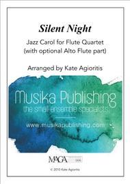 Download Silent Night - Jazz Carol For Flute Quartet Sheet Music By Kate Agioritis - Sheet Music ...