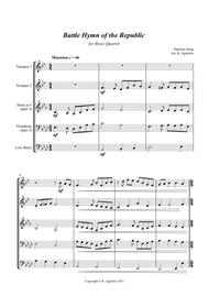 Battle Hymn of the Republic - a Jazz Arrangement - for Brass Quartet