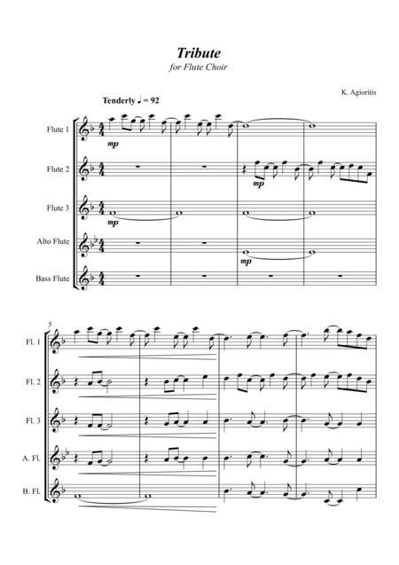 Tribute - for Flute Choir