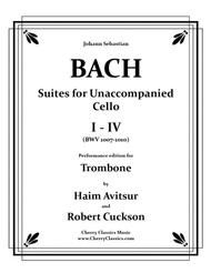 Suites I-IV for Unaccompanied Cello / Performance edition for Trombone