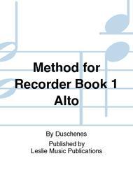 Method for Recorder Book 1 Alto