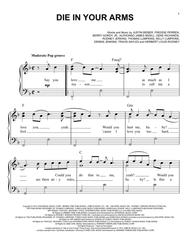 Download Die In Your Arms Sheet Music By Justin Bieber