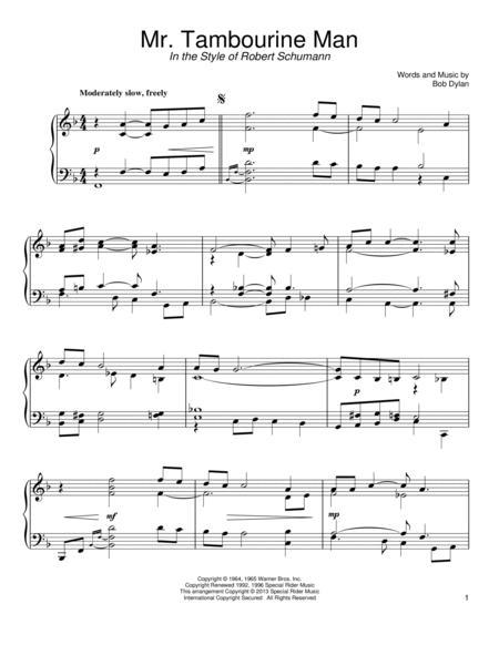 Download Mr. Tambourine Man Sheet Music By Bob Dylan - Sheet Music Plus