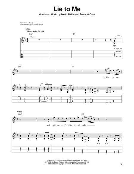 Download Lie To Me Sheet Music By Jonny Lang - Sheet Music Plus