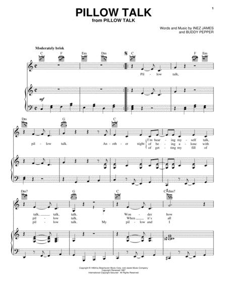 Download Pillow Talk Sheet Music By Doris Day Sheet Music Plus