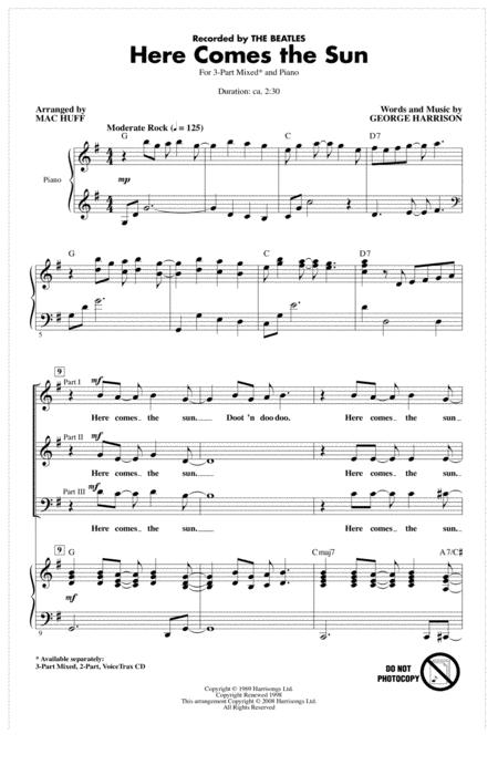 Here Comes The Sun (arr. Mac Huff)