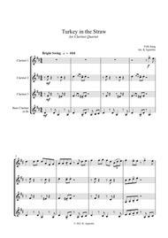Turkey in the Straw - a Jazz Arrangement - for Clarinet Quartet
