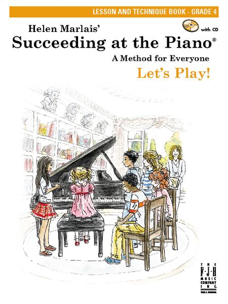 Succeeding at the Piano Lesson and Technique Book - Grade 4 (with CD)