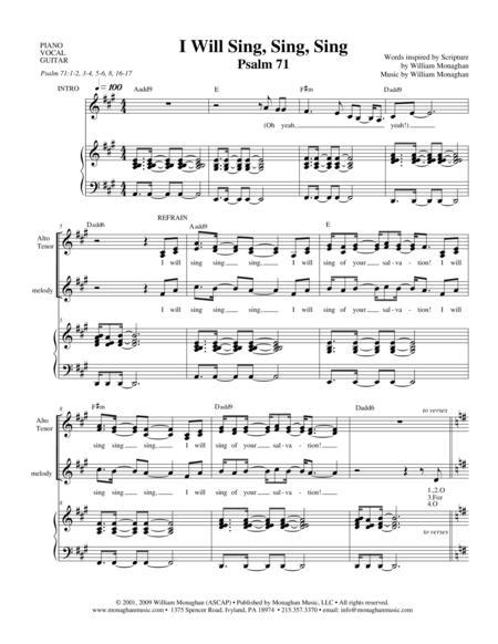 I Will Sing, Sing, Sing (Psalm 71)