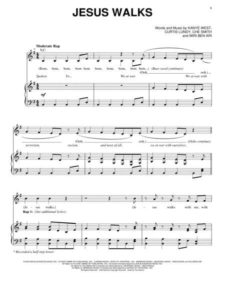 Download Jesus Walks Sheet Music By Kanye West Sheet Music Plus