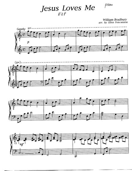 Jesus Loves Me (EZ piano and organ)