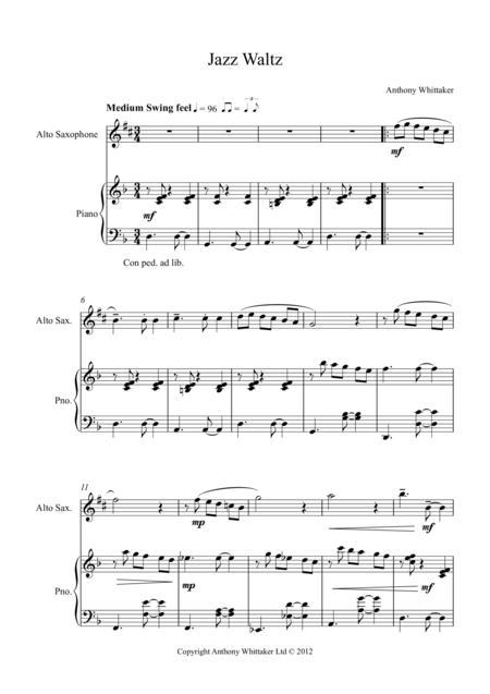 Jazz Waltz for Alto Sax