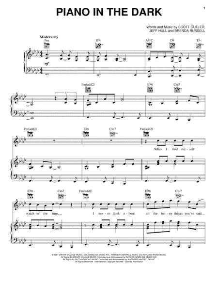 Download Piano In The Dark Sheet Music By Scott Cutler Sheet Music