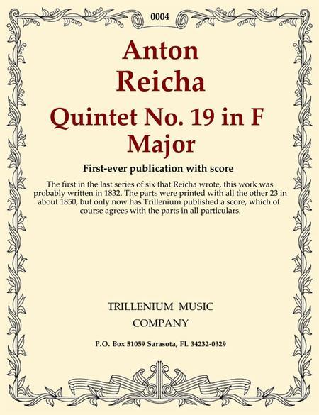 Quintet No. 19 in F Major (parts)