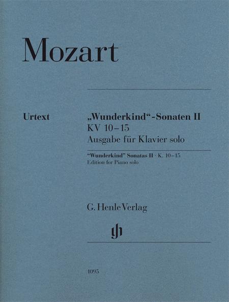 Wunderkind Sonatas, Volume 2, K. 10-15