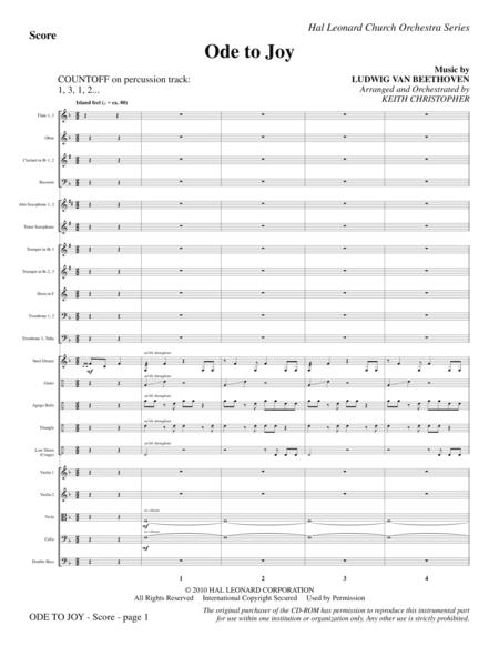 Ode To Joy (Does Not Match SATB 08752035) - Full Score