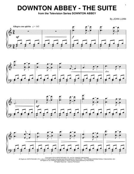 Download downton abbey the suite sheet music by john lunn.