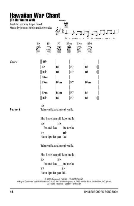 Download Hawaiian War Chant Ta Hu Wa Hu Wai Sheet Music By Bob