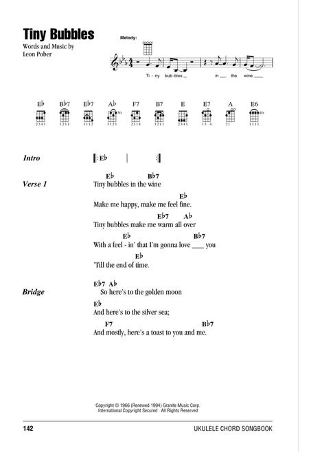 Download Tiny Bubbles Sheet Music By Don Ho Sheet Music Plus