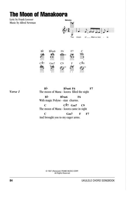 Download The Moon Of Manakoora Sheet Music By Frank Loesser Sheet