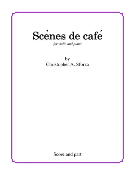 Scènes de café, for violin and piano (score and part)