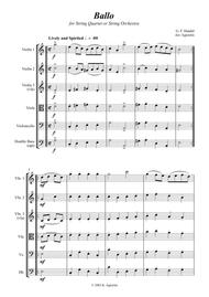Ballo - for String Quartet or String Orchestra