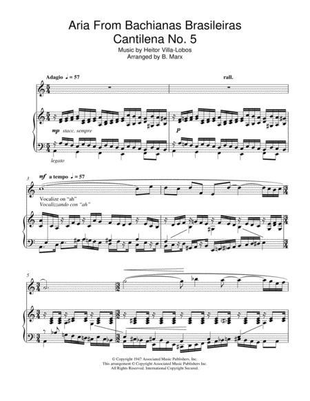 Aria From Bachianas Brasileiras Cantilena No. 5