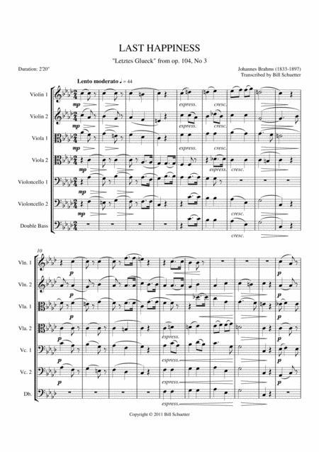 Last Happiness, Op. 104, #3