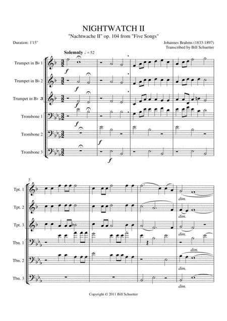 Nightwatch II, Op. 104