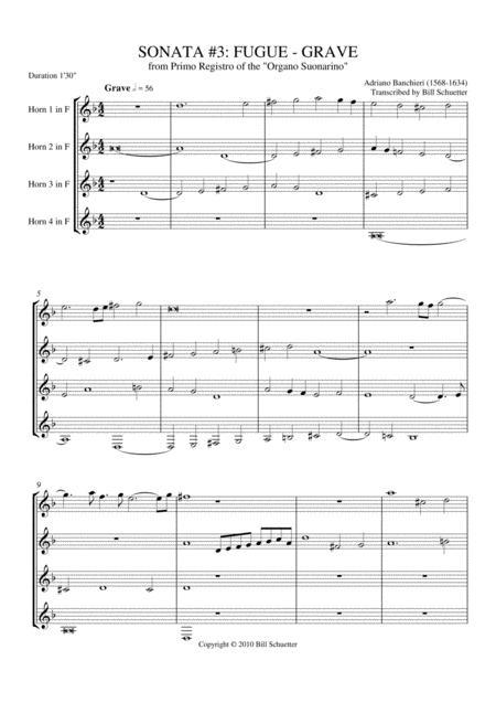 Sonata 3: Fugue-Grave