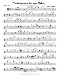 Variations on a Baroque Melody-Viola part