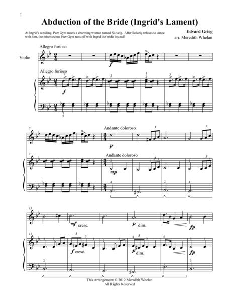 Classical Duets for Violin & Piano:  Abduction of the Bride (Ingrid's Lament)