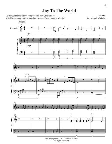 sheet music Christmas Solos For Recorder