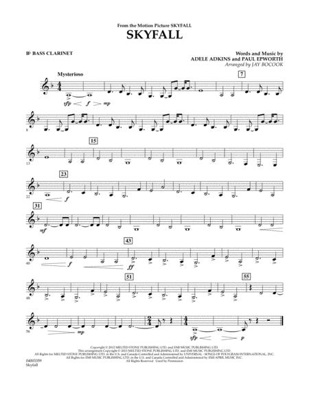 Skyfall - Bb Bass Clarinet