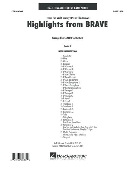 Highlights From Brave - Conductor Score (Full Score)