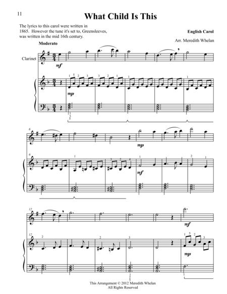 Christmas Duets for Clarinet & Piano:  What Child is This (Greensleeves)