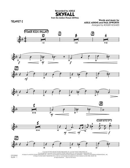 Download Skyfall - Trumpet 2 Sheet Music By Adele - Sheet Music Plus