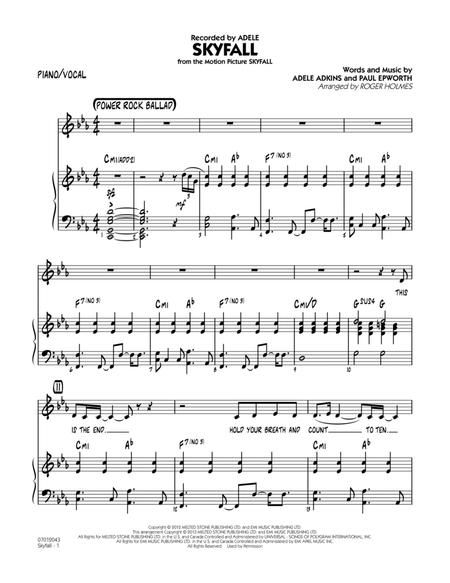 Download Skyfall Pianovocal Sheet Music By Adele Sheet Music Plus