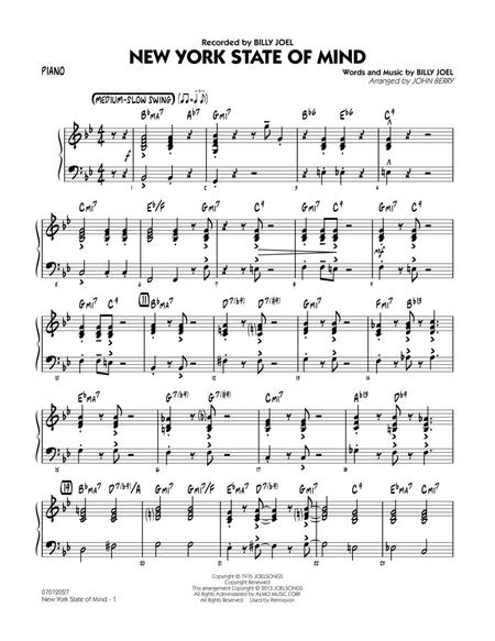Download New York State Of Mind - Piano Sheet Music By Billy Joel ...