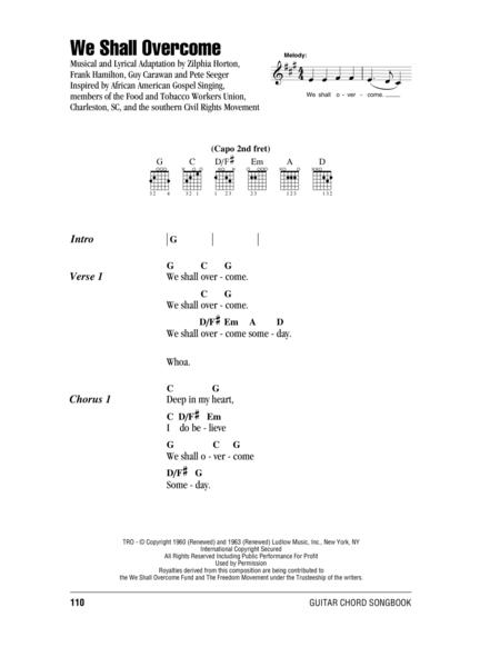 Download We Shall Overcome Sheet Music By Peter Paul And Mary