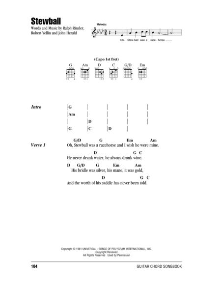 Download Stewball Sheet Music By Peter Paul And Mary - Sheet Music Plus